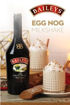 Holiday Recipes Shake up something nice with a little spice for dessert: a Baileys Eggnog Milkshake! Christmas Drinks, Holiday Drinks, Fun Drinks, Yummy Drinks, Holiday Recipes, Beverages, Mixed Drinks, Baileys Drinks, Eggnog Drinks