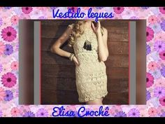 Vestido leques em crochê 40 / 42 ( 4ª parte final ) # Elisa Crochê - YouTube
