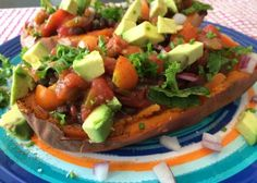 Make loaded sweet potatoes, Reboot-style, with this easy healthy recipe.