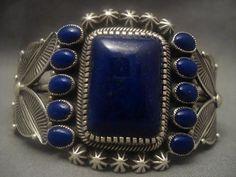 The Best Vintage Navajo Kirk Smith Lapis Lazuli Silver Bracelet   eBay $1928
