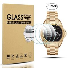 15516b593b30 Smart Watch Tempered Glass Screen Protector Cover for 3 MK Michael Kors  Bradshaw  Diruite Michael