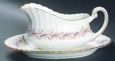 Paragon Harmony Red gravy boat and matching by BuyfromGroovy
