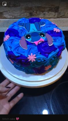 Disney Desserts, Disney Cakes, Beautiful Cakes, Amazing Cakes, Lilo And Stitch Cake, Cake Design For Men, Stitch Tattoo, Stitch And Angel, My Birthday Cake
