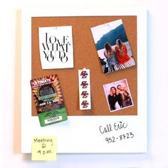 Say cheeeese. The Snapshot Message Board is cool and quirky. Resembling a retro Polaroid photo print, it is the perfect addition to any space. Leave a note for your roommate on the white outer edge, a magnetic dry-erase board, and tack your favorite photos to the interior corkboard. Hang this lightweight board with ease – double stick tape works great! The set includes 8 pushpins, 8 magnets and a dry-erase marker.