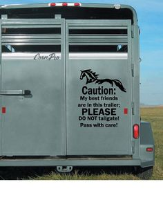 Caution Best Friends - Horse Trailer Decal