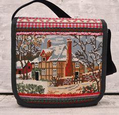 https://flic.kr/p/dB13w1 | Winter cottage messengerbag | Dutch sisters