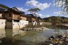 Traditional Korean house style hotel