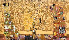 Gustav Klimt, Tree of Life Frieze Triptych (Luxury Line) - Hand Painted Oil Painting on Canvas - Canvas Art & Reproduction Oil Paintings Gustav Klimt, Art Klimt, Gustav Jung, Modern Artwork, Modern Wall Art, Contemporary Art, Cross Stitch Tree, Cross Stitch Patterns, Life Poster