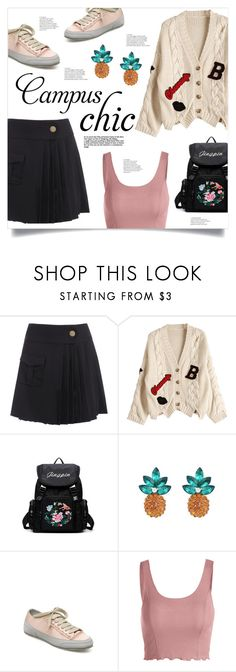 """Campus Chic: First Day of School"" by mahafromkailash ❤ liked on Polyvore"