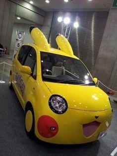 I love that car but i dont like pokemon i think pikachu is cute though Pikachu Pikachu, Flareon Pokemon, My Pokemon, Cool Pokemon, Mudkip, Pokemon Stuff, Bulbasaur, Charlie Chaplin, Cute Cars