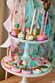 Under the Sea Cakepops--Gorgeous!!! via Kara's Party Ideas | KarasPartyIdeas.com