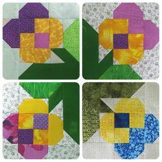 Great block on roolens blog Лоскутная геометрия Modern Quilt Blocks, Star Quilt Blocks, Quilt Square Patterns, Pattern Blocks, Barn Quilt Designs, Quilting Designs, Summer Quilts, Bird Quilt, Flower Quilts
