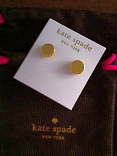 Kate Spade Smooth Yellow Gold Plated Dot Disc Stud 14k Gold Filled Earrings | eBay