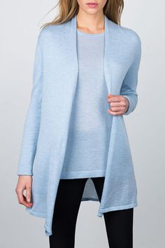 Pure, natural, soft and sophisticated, Kinross is known for everyday luxury. Their products are inspired by nature, modern in design and hand-crafted to endure.   Worsted Long Cardigan by Kinross Cashmere. Clothing - Sweaters - Cardigans District of Columbia