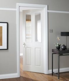 Bu0026Q   4 Panel White Smooth Internal Glazed Door, Could Match Our Other Doors .