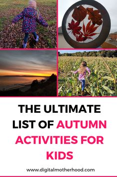The colder and wetter weather is on it's way and you might be wondering what to do with the children? Check out my Ultimate List Of Autumn Activities For Kids for some inspiration and ideas | #autumn #fall #kids #familyfun #parenting