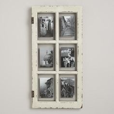 Inspired by vintage windowpanes, our White Windowpane Frame transforms your photos into an impressive style statement. In a distressed white finish, it's full of rustic charm.