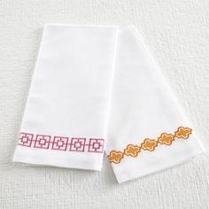 Wisteria - Accessories - Linens -  Crisp Cotton Hand Towels - Set of 2 - $29.00