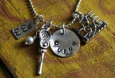 Lacrosse Mom Sterling Silver Necklace LAX Player Girlfriend. $40.00, via Etsy.