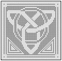 filet crochet celtic | Filet crochet