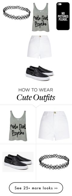 """""""goofing off with hime-time"""" by paramorenow on Polyvore featuring River Island, Vans and Casetify"""