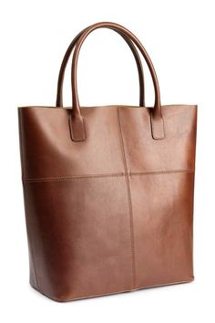 Skórzana torba shopper | H&M