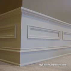 Wainscoating baseboard.  interesting. Or for impressive crown instead of coffer.