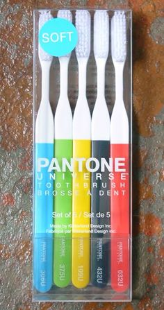 If It's Hip, It's Here: Ah, the Sweet Smell of Design. Pantone Candles. Pantone Toothbrushes, Too!