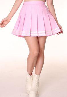 Baby Pink Cheerleading Skirt