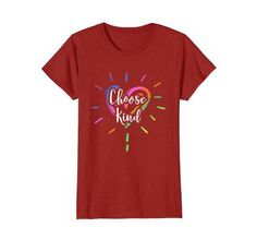 Choose Kind Heart Anti Bullying T-Shirt Student Teachers. Cool T-Shirts Cool Tees, Cool T Shirts, Tee Shirts, Casual Style For Men Over 50, Classy Men, Anti Bullying, John Daly, Shirt Shop, Branded T Shirts
