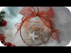 Tutorial sweet angel Tutorial super facile con pompon - YouTube Crepe Paper Flowers, Couture, Tutorial, Christmas Ornaments, Christmas Ideas, Diys, Creations, Holiday Decor, Sweet