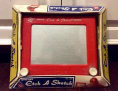Original Etch A Sketch by Ohio Art IOB, Vintage Etch A Sketch, Vintage Kids Craft Toys, Ohio Art Toys, Classic Kids Toys, Etch and Sketch by Lalecreations on Etsy