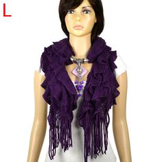 purple long wide scarves supplier multi layer wrap pretty tassel wrap NL-2052L #Welldone #Scarf