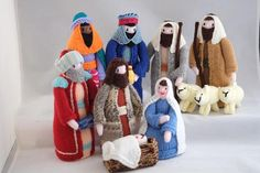 Nativity Set Christmas Knitted Handmade Decoration Holiday
