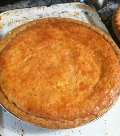 Lemony Buttermilk Pie - a Southern secret for luscious goodness!