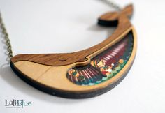 Whimsical Wooden Jewelry Features Mini Scenes Inspired by Classic Fairy Tales. Artist Gemma Arnal Jericó - My Modern Met