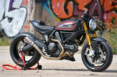 Need more power and better handling for your Ducati Scrambler? Tuner Marcus Walz has the answer, with a stunning custom built for the Intermot show.