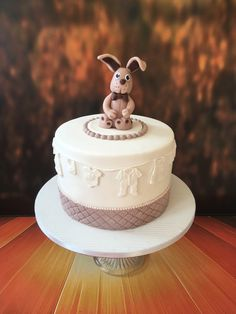 Baby shower cake. Bunny, simple and elegant cake