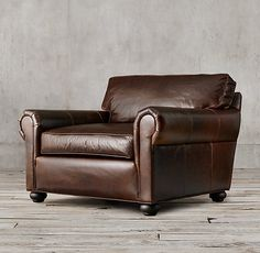 """Lancaster Leather Chair-and-a-Half Luxe: 50""""W x 45""""D x 36""""H"""