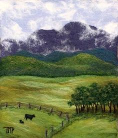 """Summer Pastures"" by Tracey McCracken Palmer of Bonnieblink Studio"