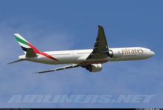 """""""Emirates on a runway 07 departure. - Photo taken at Newcastle - Woolsington (NCL / EGNT) in England, United Kingdom on June Boeing 777 300, Emirates Airline, Aircraft Pictures, Airplanes, Aviation, Travel, Trips, Viajes, Planes"""