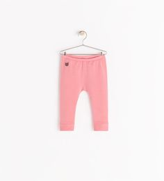 Image 1 of BASIC LEGGINGS WITH CAT EMBROIDERY from Zara 2-3y