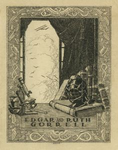 bookplate of Edgar S. and Ruth M. Gorrell