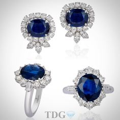"""@the_diamonds_girl on Instagram: """"BLUE MAGIC!!!! Ever since Princess Di chose a sapphire for her engagement ring, I have been in love with their magic! Loving these @andreolifinejewelry blue beauties! """""""