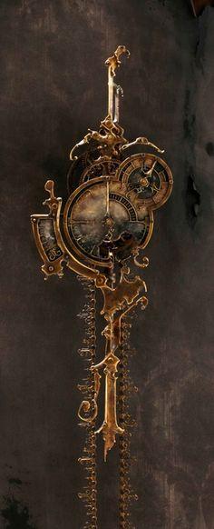 Steampunk  clock  Source: here