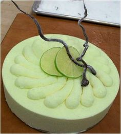 Key Lime Mousse Cake