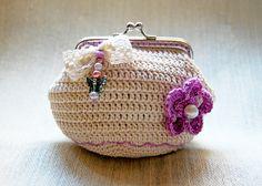 Tutorial monedero crochet con boquilla - Imagui