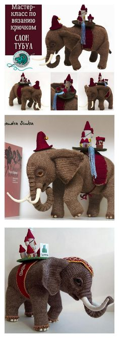 In this article I will share a wonderful amigurumi pattern again. You can enjoy this beautiful amigurumi elephant free english pattern.  Materials  Yarn Pekhorka children's novelty,  1 skein of the main color, half  skein of a different color  Hook 1.5-1.75  Filler  Long needle  Plastic joint or cotter pin  Plastic eyes d = 13mm, with  you can use  baked plastic for protein  Artificial cilia, button  1.5 mm wire for neck  no joint or cotter pin Crochet Food, Crochet Baby, Elephant Pattern, Amigurumi Toys, Crochet Animals, Main Colors, Burlap Wreath, Free Pattern, Dinosaur Stuffed Animal
