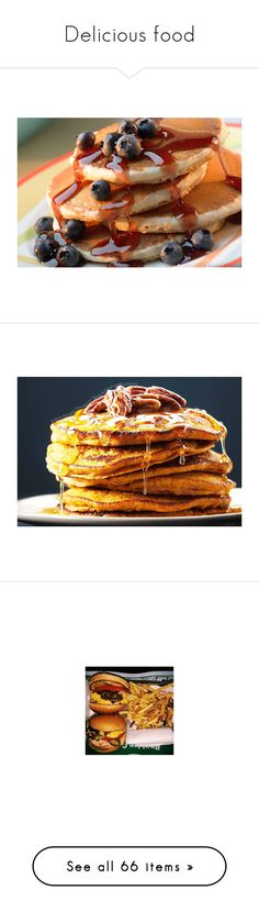 """""""Delicious food"""" by mel-grey-lannister ❤ liked on Polyvore featuring food, breakfast, backgrounds, pictures, food porn, food and drink, comida, red, filler and dessert"""