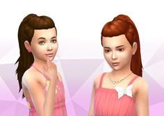 The Sims 4   My Stuff: SP05 Movie Hangout Stuff Pony TriBraids Hairstyle Converted for Girls   hairs for female child